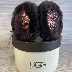 NWT Ugg Ear Muffs Sparkly Chocolate Brown